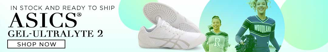 Asics Gel-Ultralyte 2 Cheer Shoes are In Stock and ready to ship - order your cheer shoes today!